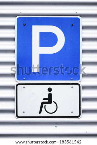 disabled parking sign - outdoors - photo