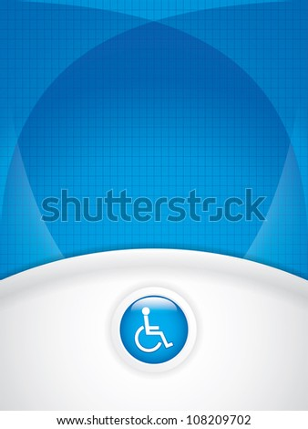 Disabled persons supporting hospital template - medical background - stock photo