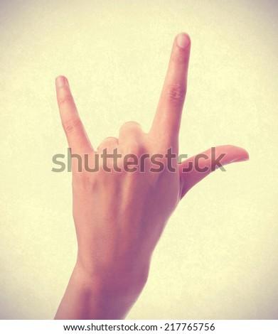 disagree hand gesture - stock photo