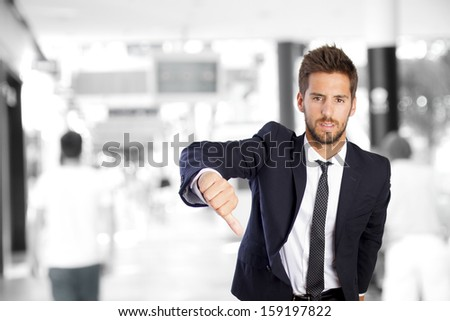 disagreement businessman in a company - stock photo