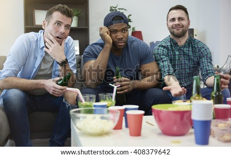 Disappointment because of losing match - stock photo