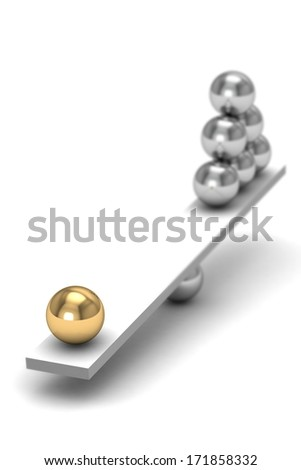 disbalance (high resolution 3D image) - stock photo
