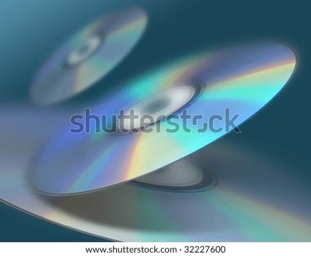 Disc background - stock photo