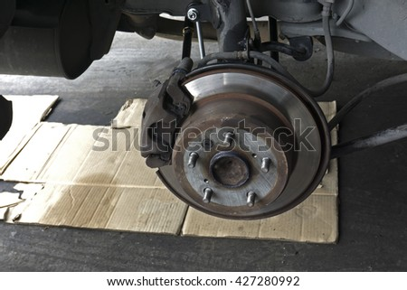 disc brake repair,maintenance  in car garage