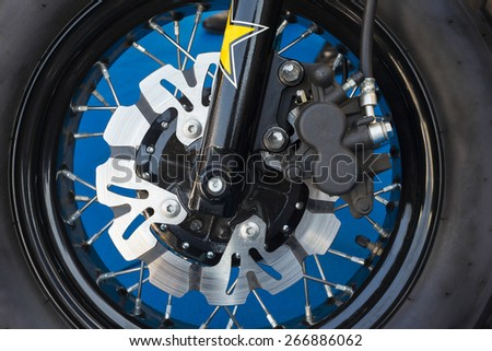 Disc brakes of sport motorcycle