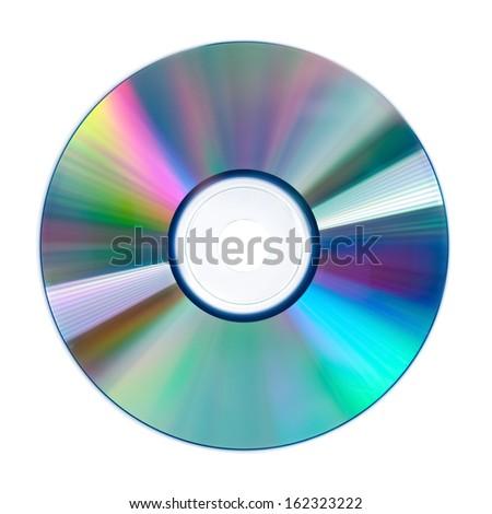 disc isolated on white - stock photo