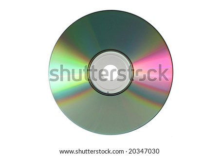 Disc isolated on white - stock photo