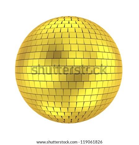 disco ball - 3d render on white - stock photo