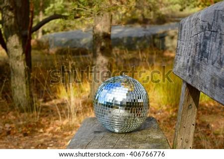 Disco ball i nature (Club Nature) - stock photo