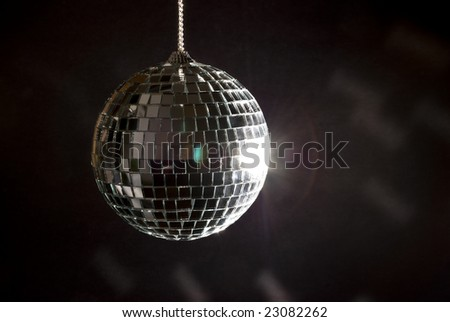 Disco ball with lights - stock photo