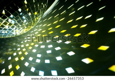 disco ball with shiny effect - stock photo