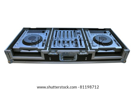 disco console isolated on white - stock photo