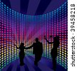 Disco dance background. Vector illustration. - stock photo