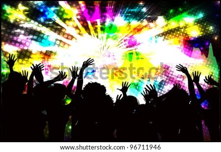 disco design (raster copy) - stock photo
