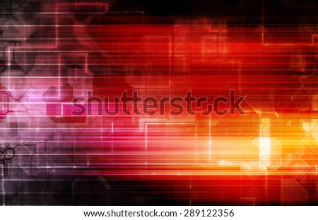 Disco Electronic Music Techno Party Background Art - stock photo