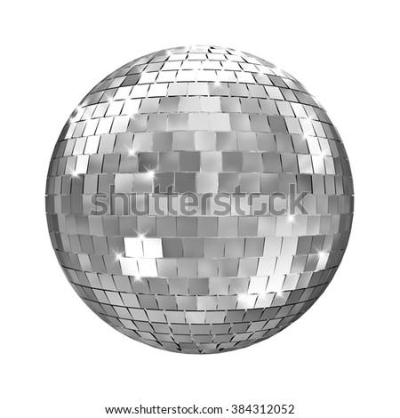 disco mirror ball 3d image - stock photo