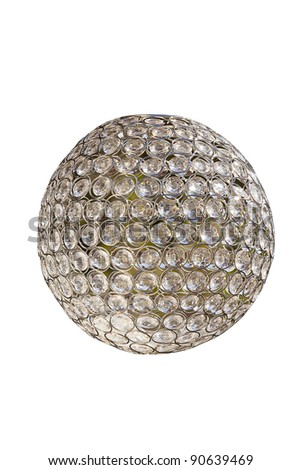 disco mirror ball isolated on white - stock photo