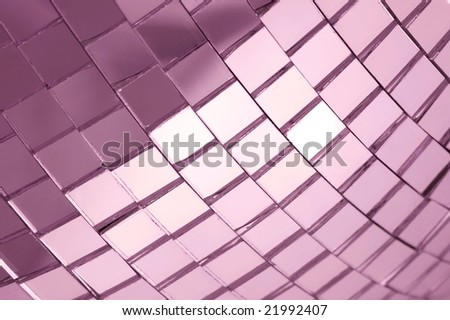 Discoball closeup - stock photo