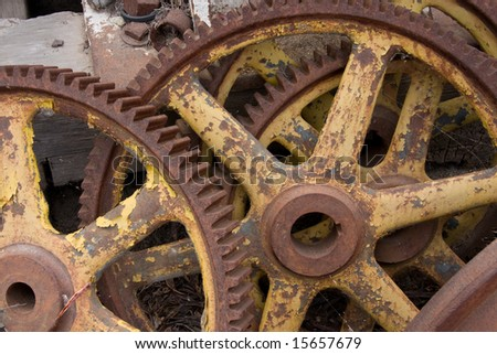 Disconnected Gears - stock photo