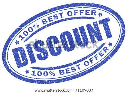 Discount blue stamp - stock photo