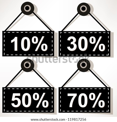 Discount icons set isolated on white background. - stock photo