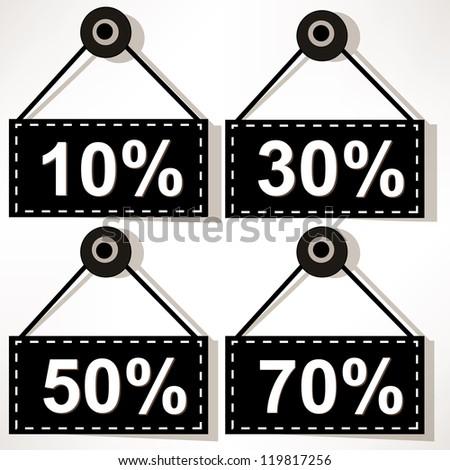 Discount icons set isolated on white background. - stock photo