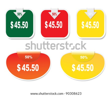 Discount labels. - stock photo