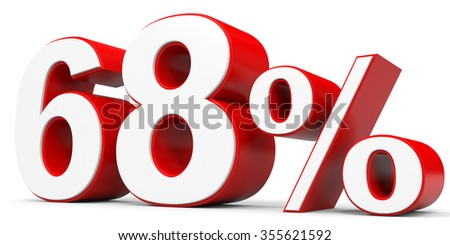 Discount 68 percent off. 3D illustration.