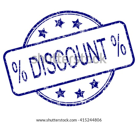 Discount rubber stamp - stock photo