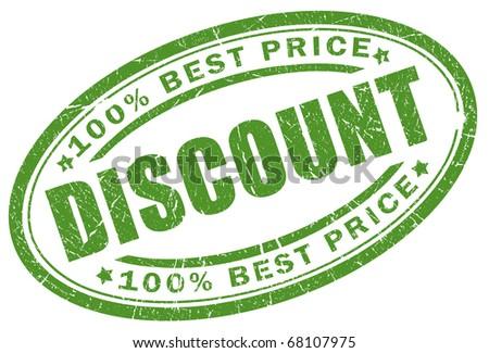 Discount stamp - stock photo