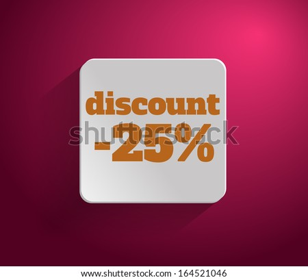 Discount text with numbers. Rasterized copy - stock photo