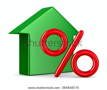 Discounts for real estate. Isolated 3D image - stock photo