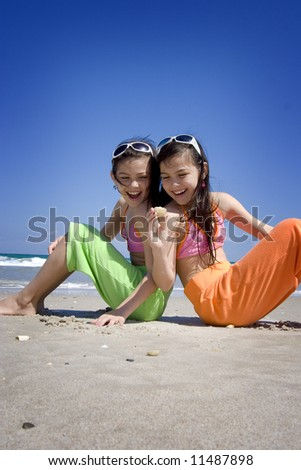 Discovery on a beach - stock photo