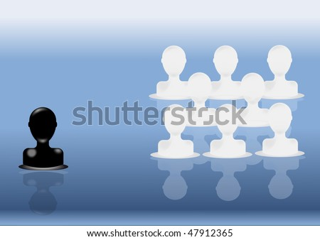 Discrimination and racism - stock photo