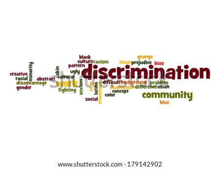 Discrimination word cloud - stock photo