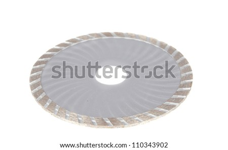 discs for cutting of tile on a white background - stock photo