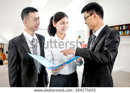 Discuss the work - stock photo