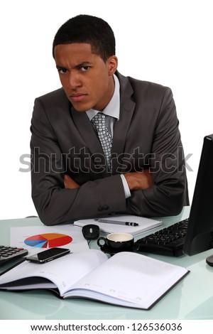 Disgruntled Executive - stock photo