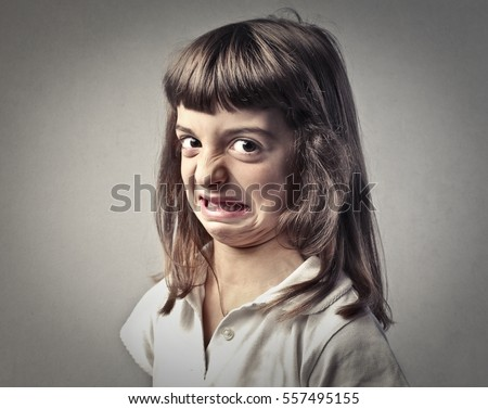 Disgusted Childs Portrait Stock Photo (Royalty Free ...