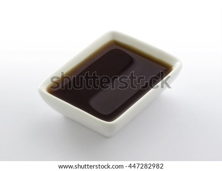 Dish of soy sauce