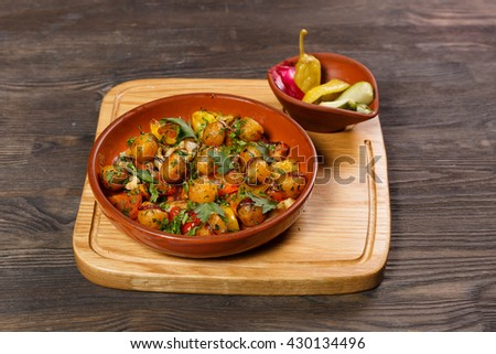 dish of the restaurant  - stock photo