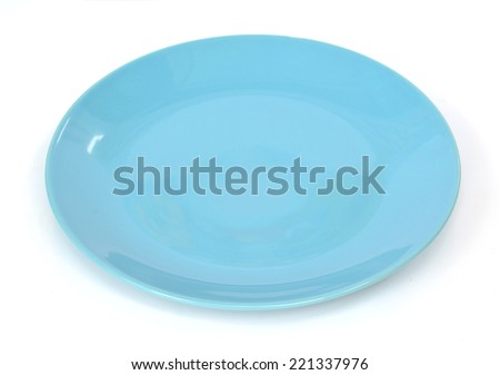 dish on white background - stock photo