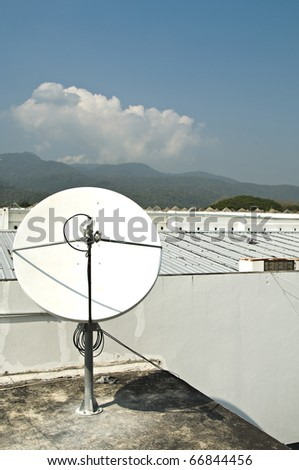 Dish satellite - stock photo