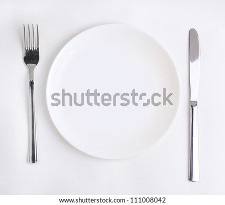 dish spoon fork