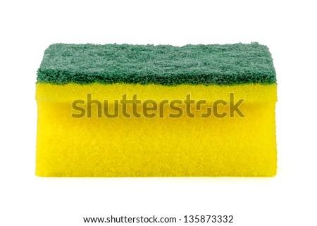 dish washing sponge - stock photo