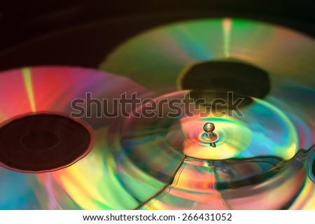 Disk drop - stock photo