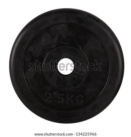 Disk for dumbbells isolated - stock photo