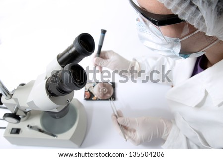 disk recovery - stock photo