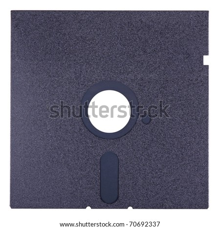 Diskette of 5,25 inches, isolated on a white background - stock photo
