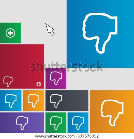 Dislike icon sign. buttons. Modern interface website buttons with cursor pointer. illustration - stock photo